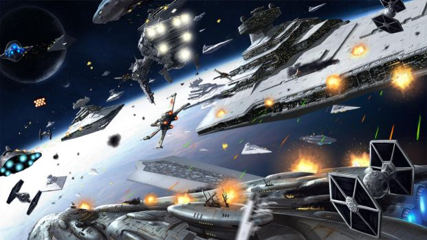 starwars battle of jakku by kimbbq