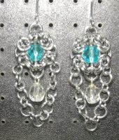 Chainmaille Earring 26 by Des804