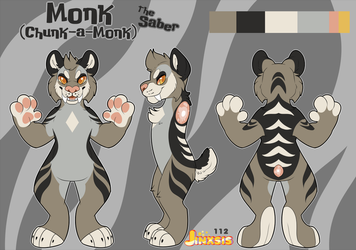 Monk Ref Sheet by jpupbob