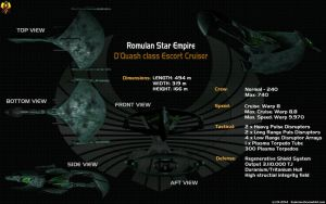 Romulan Dquash Escort Data sheet by Euderion