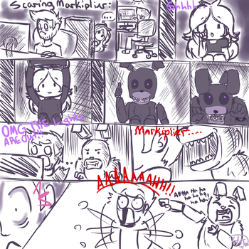 Scaring Markiplier Random Scetch by jenny-theanimator