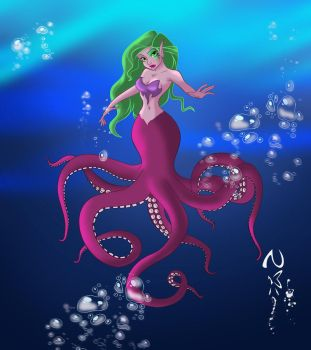Octopus Girl by Nippy13