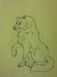 a requested wolf for a friend by 01whitewolf
