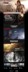 Tomb raider Website ReDesign by Illusiv-Fr
