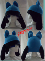 Pokemon Fleece Hat: Riolu by PurgatorianHeir