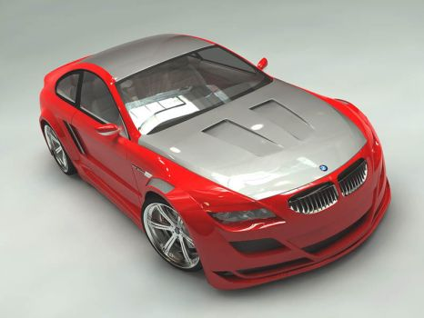 the red bmw m6 by dwiirawan