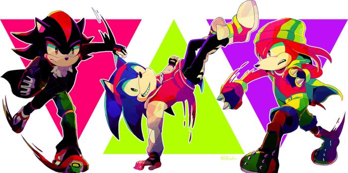 Shadow, Sonic and Knuckles by TheDarkShadow1990