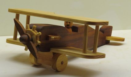 Wooden toy biplane by StevesWoodenToys