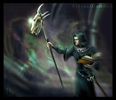 Necromancer II in green by AlbinaDiamond