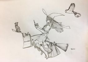 Witch WIP by RobtheDoodler