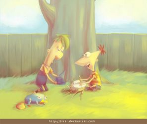 Brainbot - Phineas and Ferb by Irrel