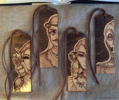 Pyrographed Bookmarks by Ishtir