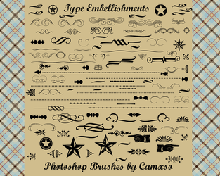 Type Embellishments by Camxso