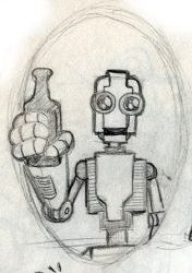 Drinking Robot 1 by WombatOne