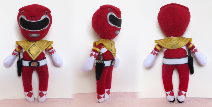 Red Power Ranger -  Mighty Morphin Power Rangers by Squisherific