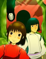 Spirited Away commission by pikachu0221