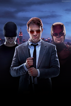 Daredevil Poster Without Text by muhammedaktunc