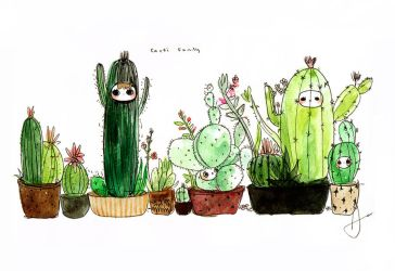 The Cacti Family by j-b0x