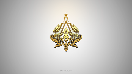 Assassin's Creed Golden Logo V1 by Flink-Design
