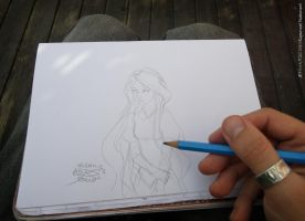 Drawing Young Rapunzel by Efrayn