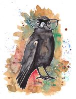 A clever crow by Paintwick