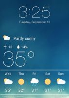 Weather Lockscreen Widget for xwidget by Jimking