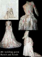 1887 wedding dress by debellespoupees