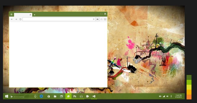 Concept 6 : Window + shadow border ( green theme ) by JFIII