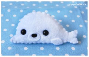 An Even Tinier Baby Seal by littlepaperforest