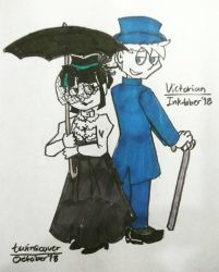 Inktober 2018 (2) day 14 - Victorian by twinscover