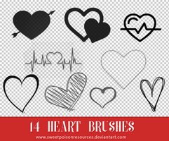 Heart Brushes - Photoshop by sweetpoisonresources