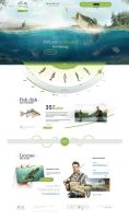 Creative Fishing Website by sandracz