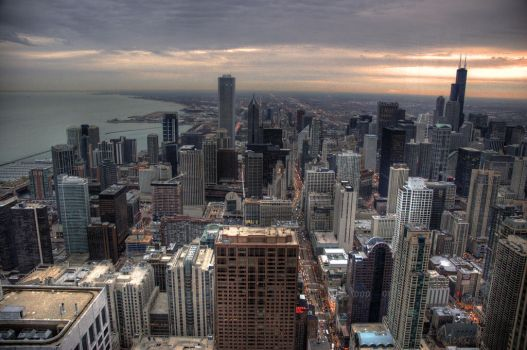 Chicago Sunset by Becktacular