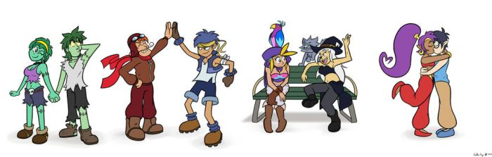 Shantae, Zachary, and friends. by cutebutwrong