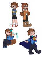 Gravity Falls AUs by PuccaFanGirl
