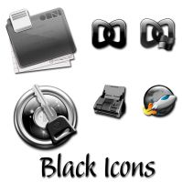 Black Icons for Mac by Showngo