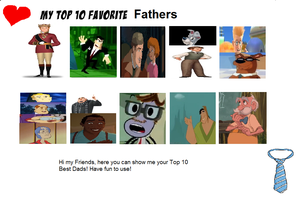 My Top Ten Animated Fathers Meme by Mileymouse101