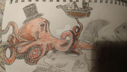 octopus with a top hat. by StevieMtz