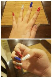 4th July gold glitter nails by mkl91