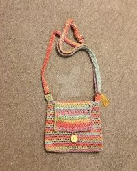Crocheted shoulder bag by thehobbypanda