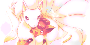 Ninetales Etage with Vulpix by DJ-Xigu