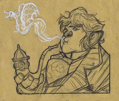 The Hobbit - Smoking Bilbo by DenisM79