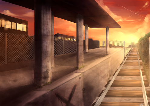 Industrial Station by Erri-chama