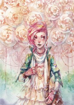 Rose Bubble Gum by Kutty-Sark