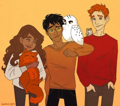 Trio and Pets by Jackie-lyn