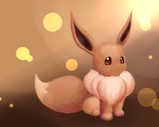 Eevee (Color test #2) by Alexxxa4