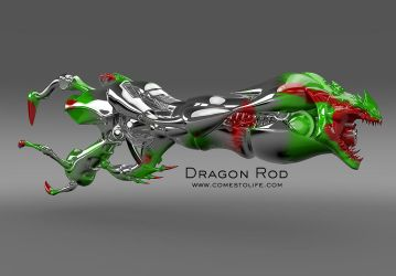 Dragon Rod Green by zoomzoom