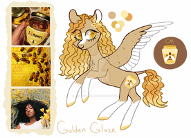Moodboard Pony Adopt [CLOSED] Golden Glaze by JellyBeanBullet