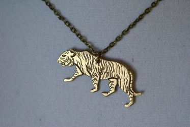 Tiger Necklace 1 by MonsterBrandCrafts