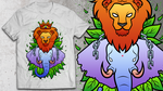 'Welcome to the Jungle' T-shirt Illustration by KarrahPickardDesigns